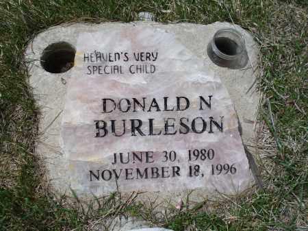 BURLESON, DONALD N. - Pennington County, South Dakota   DONALD N. BURLESON - South Dakota Gravestone Photos