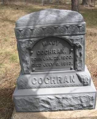 COCHRAN, MACY - Pennington County, South Dakota | MACY COCHRAN - South Dakota Gravestone Photos