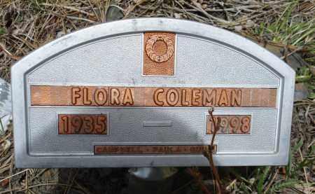COLEMAN, FLORA - Pennington County, South Dakota   FLORA COLEMAN - South Dakota Gravestone Photos