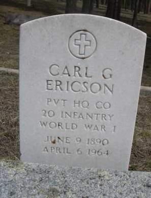 ERICSON, CARL G. - Pennington County, South Dakota | CARL G. ERICSON - South Dakota Gravestone Photos