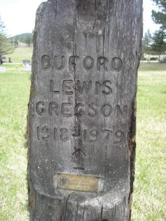 GREGSON, BUFORD LEWIS - Pennington County, South Dakota   BUFORD LEWIS GREGSON - South Dakota Gravestone Photos