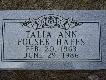FOUSEK HAEFS, TALIA ANN - Pennington County, South Dakota | TALIA ANN FOUSEK HAEFS - South Dakota Gravestone Photos