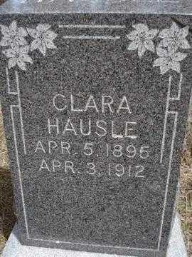 HAUSLE, CLARA - Pennington County, South Dakota   CLARA HAUSLE - South Dakota Gravestone Photos