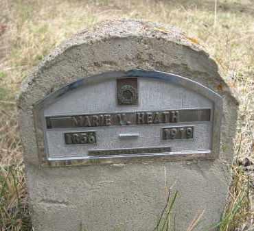HEATH, MARIE V. - Pennington County, South Dakota | MARIE V. HEATH - South Dakota Gravestone Photos