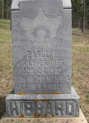 HIBBARD, EARLE F. - Pennington County, South Dakota | EARLE F. HIBBARD - South Dakota Gravestone Photos