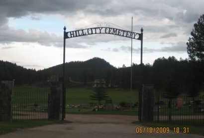 *HILL CITY CEMETERY, FRONT GATE - Pennington County, South Dakota   FRONT GATE *HILL CITY CEMETERY - South Dakota Gravestone Photos