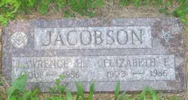 JACOBSON, ELIZABETH F. - Pennington County, South Dakota | ELIZABETH F. JACOBSON - South Dakota Gravestone Photos