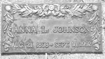 JOHNSON, ANNA L. - Pennington County, South Dakota | ANNA L. JOHNSON - South Dakota Gravestone Photos