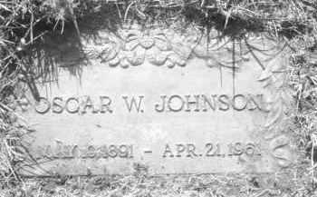 JOHNSON, OSCAR W. - Pennington County, South Dakota   OSCAR W. JOHNSON - South Dakota Gravestone Photos