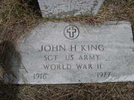 KING, JOHN H. - Pennington County, South Dakota | JOHN H. KING - South Dakota Gravestone Photos