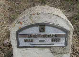 KNUTSON, ANNA - Pennington County, South Dakota   ANNA KNUTSON - South Dakota Gravestone Photos