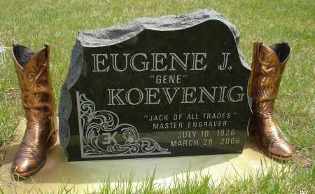 "KOEVENIG, EUGENE J. ""GENE"" - Pennington County, South Dakota   EUGENE J. ""GENE"" KOEVENIG - South Dakota Gravestone Photos"