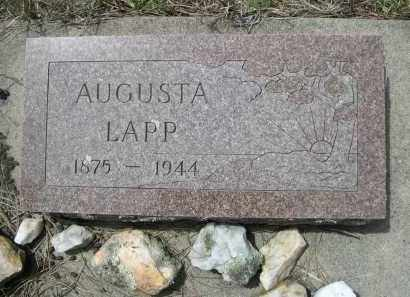 LAPP, AUGUSTA - Pennington County, South Dakota | AUGUSTA LAPP - South Dakota Gravestone Photos