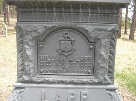 LAPP, WILLAIM A. - Pennington County, South Dakota   WILLAIM A. LAPP - South Dakota Gravestone Photos