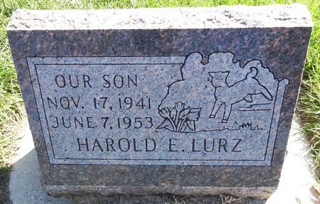 LURZ, HAROLD E. - Pennington County, South Dakota | HAROLD E. LURZ - South Dakota Gravestone Photos