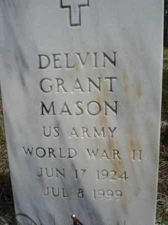 MASON, DELVIN GRANT - Pennington County, South Dakota   DELVIN GRANT MASON - South Dakota Gravestone Photos