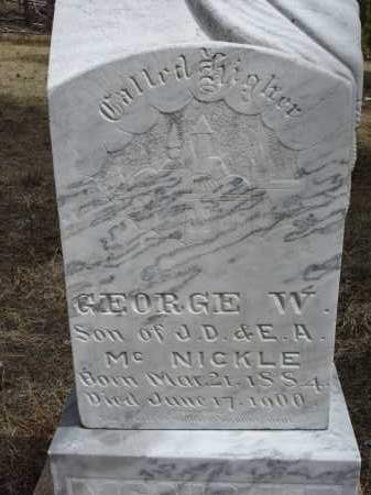 MCNICKLE, GEORGE W. - Pennington County, South Dakota | GEORGE W. MCNICKLE - South Dakota Gravestone Photos