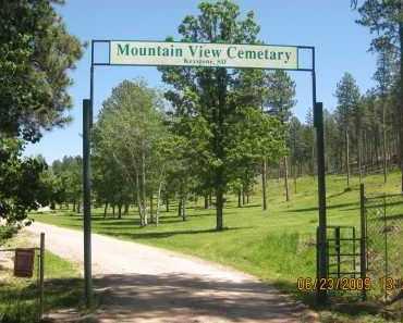 *MOUNTAIN VIEW CEMETERY, VIEW OF GATE - Pennington County, South Dakota | VIEW OF GATE *MOUNTAIN VIEW CEMETERY - South Dakota Gravestone Photos