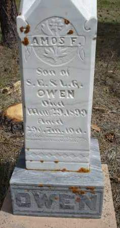 OWEN, AMOS F. - Pennington County, South Dakota | AMOS F. OWEN - South Dakota Gravestone Photos