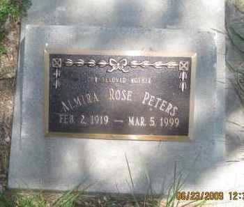 PETERS, ALMIRA ROSE - Pennington County, South Dakota | ALMIRA ROSE PETERS - South Dakota Gravestone Photos