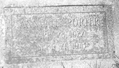 PORTER, ANNETTE - Pennington County, South Dakota | ANNETTE PORTER - South Dakota Gravestone Photos