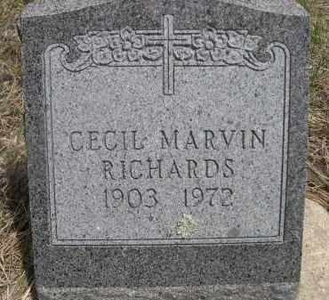 RICHARDS, CECIL MARVIN - Pennington County, South Dakota | CECIL MARVIN RICHARDS - South Dakota Gravestone Photos