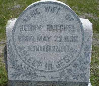 RUECHEL, ANNIE - Pennington County, South Dakota | ANNIE RUECHEL - South Dakota Gravestone Photos