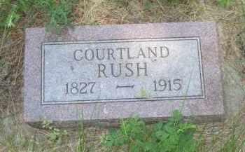 RUSH, COURTLAND - Pennington County, South Dakota | COURTLAND RUSH - South Dakota Gravestone Photos