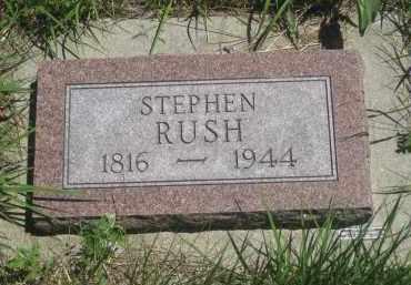 RUSH, STEPHEN - Pennington County, South Dakota | STEPHEN RUSH - South Dakota Gravestone Photos
