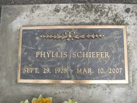 SCHIEFER, PHYLISS - Pennington County, South Dakota   PHYLISS SCHIEFER - South Dakota Gravestone Photos
