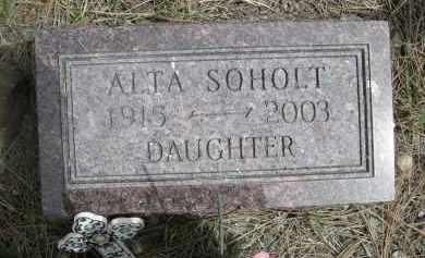 SOHOLT, ALTA - Pennington County, South Dakota | ALTA SOHOLT - South Dakota Gravestone Photos