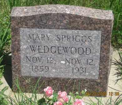 SPRIGGS WEDGEWOOD, MARY - Pennington County, South Dakota | MARY SPRIGGS WEDGEWOOD - South Dakota Gravestone Photos