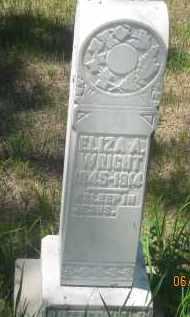 WRIGHT, ELIZA A. - Pennington County, South Dakota   ELIZA A. WRIGHT - South Dakota Gravestone Photos