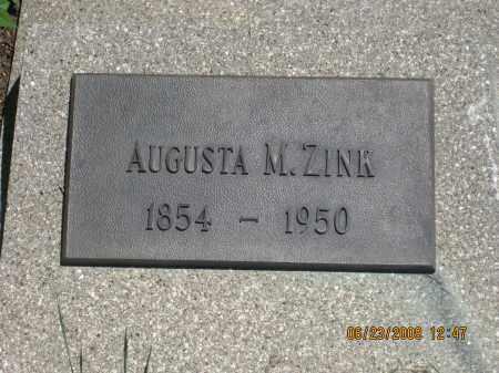 ZINK, AUGUSTA M. - Pennington County, South Dakota | AUGUSTA M. ZINK - South Dakota Gravestone Photos