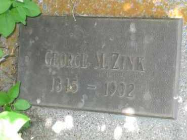 ZINK, GEORGE M. - Pennington County, South Dakota | GEORGE M. ZINK - South Dakota Gravestone Photos