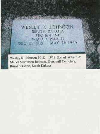 JOHNSON, WESLEY - Roberts County, South Dakota   WESLEY JOHNSON - South Dakota Gravestone Photos