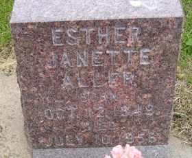 ALLER, ESTHER JANETTE - Sanborn County, South Dakota | ESTHER JANETTE ALLER - South Dakota Gravestone Photos