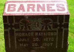 BARNES, HORACE RAYMOND - Sanborn County, South Dakota | HORACE RAYMOND BARNES - South Dakota Gravestone Photos
