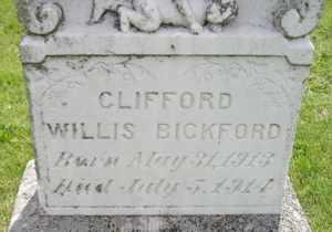 BICKFORD, CLIFFORD WILLIS - Sanborn County, South Dakota | CLIFFORD WILLIS BICKFORD - South Dakota Gravestone Photos
