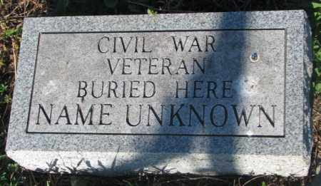 CIVIL WAR VETERAN, UNKNOWN - Sanborn County, South Dakota | UNKNOWN CIVIL WAR VETERAN - South Dakota Gravestone Photos