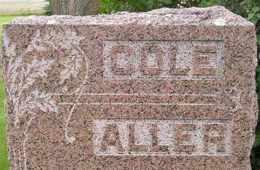 ALLER-COLE, FAMILY - Sanborn County, South Dakota | FAMILY ALLER-COLE - South Dakota Gravestone Photos