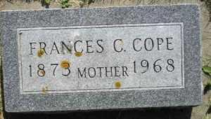 COPE, FRANCES C - Sanborn County, South Dakota | FRANCES C COPE - South Dakota Gravestone Photos