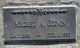 CORWIN, MILDRED A - Sanborn County, South Dakota | MILDRED A CORWIN - South Dakota Gravestone Photos