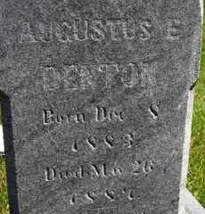 DENTON, AUGUSTUS E - Sanborn County, South Dakota   AUGUSTUS E DENTON - South Dakota Gravestone Photos