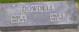 DOWDELL, FRED E - Sanborn County, South Dakota   FRED E DOWDELL - South Dakota Gravestone Photos