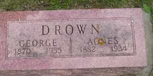 DROWN, GEORGE - Sanborn County, South Dakota   GEORGE DROWN - South Dakota Gravestone Photos