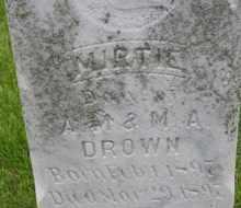 DROWN, MIRTIE - Sanborn County, South Dakota   MIRTIE DROWN - South Dakota Gravestone Photos