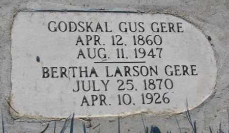 GERE, GODSKAL GUS - Sanborn County, South Dakota | GODSKAL GUS GERE - South Dakota Gravestone Photos