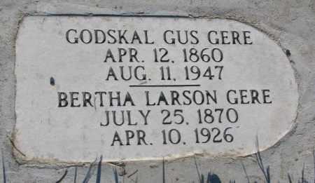 LARSON GERE, BERTHA - Sanborn County, South Dakota | BERTHA LARSON GERE - South Dakota Gravestone Photos