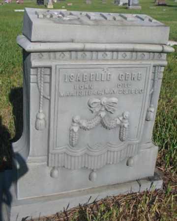 GERE, ISABELLE - Sanborn County, South Dakota | ISABELLE GERE - South Dakota Gravestone Photos